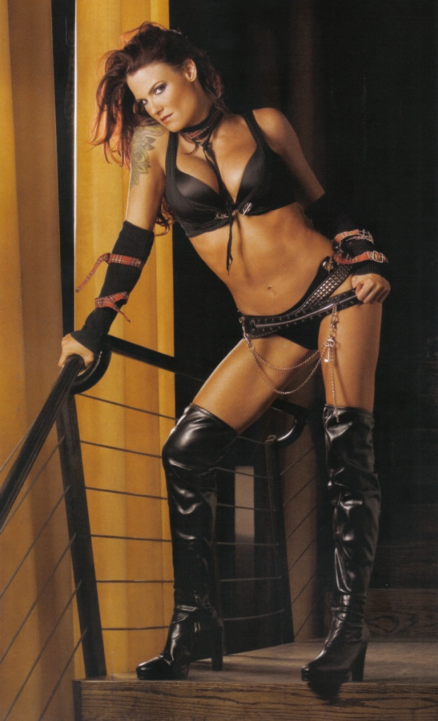 Here is a Lita picture. Because she provided me with just as much entertainment as Trish, and deserves induction also.
