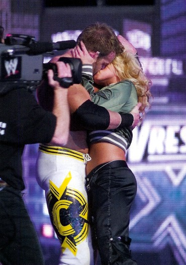 So here is a picture of Trish making out with Christian at WM 20 at MSG.
