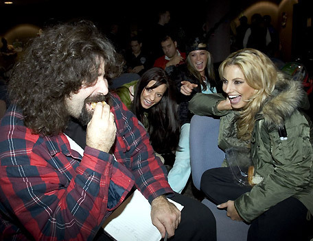 Mick can't follow up that picture of Trish. So here is a picture of him with Trish and other Divas.